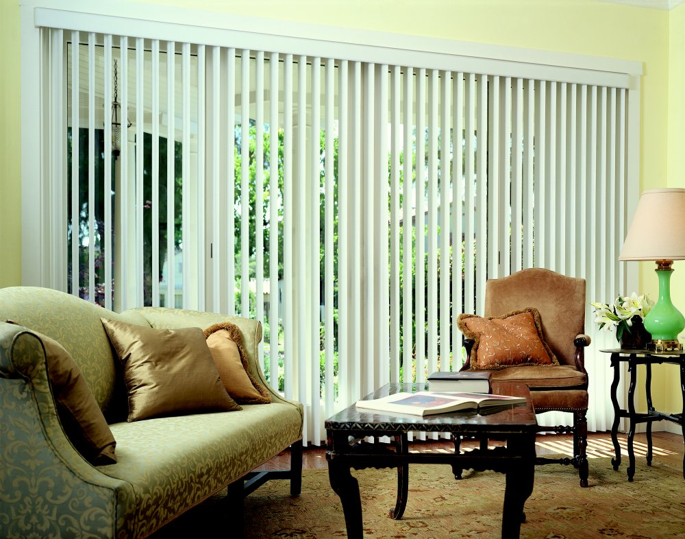 Photo gallery custom vertical blinds raleigh for Best blinds for floor to ceiling windows
