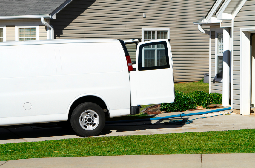 Carpet & Upholstery Cleaning Service Van